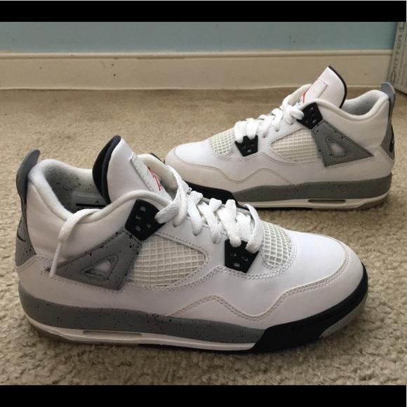 new arrival 08725 af400 Youth Nike Air Jordan 4 White Cement 5.5Y. M 5c1efc524ab6338a1e932d34